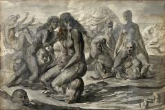 Reginald Marsh Water Sports Swimmers and Bathers at Coney Island - 1194502