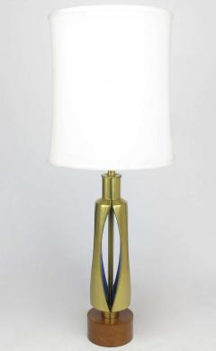 Rembrandt Brass and Azure Blue Table Lamp - 267077