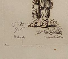 Rembrandt Etching 40 by Francesco Novelli - 1487075