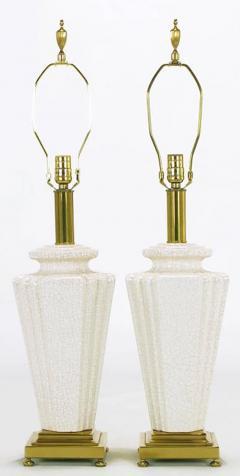 Rembrandt Lamp Company Pair of Rembrandt Lamp Company Art Deco Craquelure Glaze Table Lamps - 277004