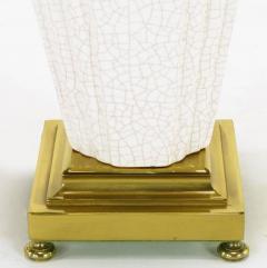 Rembrandt Lamp Company Pair of Rembrandt Lamp Company Art Deco Craquelure Glaze Table Lamps - 277008