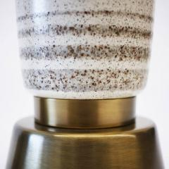 Rembrandt Lamp Company Rembrandt Stippled Glaze Ceramic and Brass Table Lamps Pair  - 414858