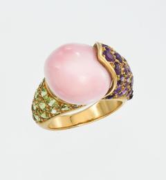 Ren Boivin Conch pearl Amethyst Peridot Ring by Rene Boivin - 174130
