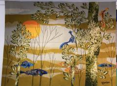 Ren Fumeron Aubusson tapestry by Ren FUMERON Like the moon woven in the Pinton workshop - 1294601
