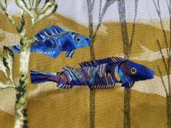 Ren Fumeron Aubusson tapestry by Ren FUMERON Like the moon woven in the Pinton workshop - 1294602