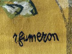 Ren Fumeron Aubusson tapestry by Ren FUMERON Like the moon woven in the Pinton workshop - 1294603