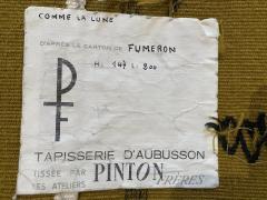 Ren Fumeron Aubusson tapestry by Ren FUMERON Like the moon woven in the Pinton workshop - 1294605