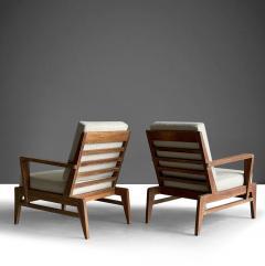 Ren Gabriel Iconic Pair of Rene Gabriel Mid 20th Century Oak Lounge Chairs - 2115888