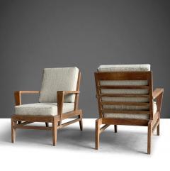 Ren Gabriel Iconic Pair of Rene Gabriel Mid 20th Century Oak Lounge Chairs - 2115889