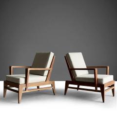 Ren Gabriel Iconic Pair of Rene Gabriel Mid 20th Century Oak Lounge Chairs - 2115890