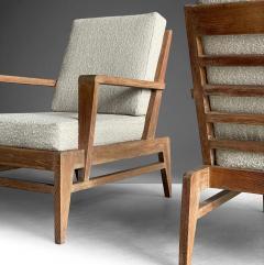Ren Gabriel Iconic Pair of Rene Gabriel Mid 20th Century Oak Lounge Chairs - 2115891