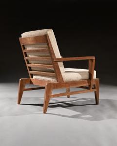 Ren Gabriel Iconic Pair of Rene Gabriel Mid 20th Century Oak Lounge Chairs - 2115893