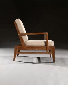 Ren Gabriel Iconic Pair of Rene Gabriel Mid 20th Century Oak Lounge Chairs - 2115894