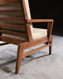 Ren Gabriel Iconic Pair of Rene Gabriel Mid 20th Century Oak Lounge Chairs - 2115896