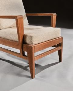 Ren Gabriel Iconic Pair of Rene Gabriel Mid 20th Century Oak Lounge Chairs - 2115897