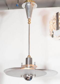 Ren Herbst Sculptural Bauhaus Style Mid Century Modernist Chandelier by Rene Herbst - 1461228