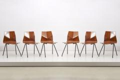 Ren Jean Caillette Set of 6 Plywood Dining Chairs by Ren Jean Caillette for Steiner France 1958 - 1504667