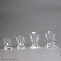 Ren Lalique Lalique Co A Quincy Set Of Glasses By R Lalique Made In 1935 - 1444563
