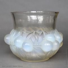 Ren Lalique Lalique Co A R Lalique Opalescent Prunes Vase Designed In 1930 - 1453632