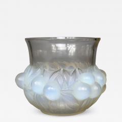 Ren Lalique Lalique Co A R Lalique Opalescent Prunes Vase Designed In 1930 - 1456295