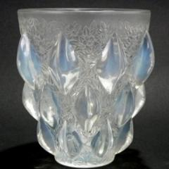 Ren Lalique Lalique Co Art Deco Rene Lalique Opalescent Glass Rampillion Vase - 2005237