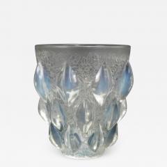 Ren Lalique Lalique Co Art Deco Rene Lalique Opalescent Glass Rampillion Vase - 2010149