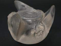Ren Lalique Lalique Co Ren Lalique Clear Frosted Glass Trois Papillons Inkwell - 2006183