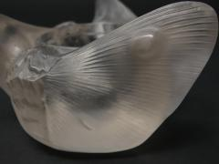Ren Lalique Lalique Co Ren Lalique Clear Frosted Glass Trois Papillons Inkwell - 2006190