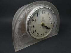 Ren Lalique Lalique Co Ren Lalique Glass Moineaux Sparrows Clock - 1990424