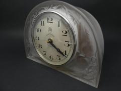 Ren Lalique Lalique Co Ren Lalique Glass Moineaux Sparrows Clock - 1990425