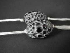 Ren Lalique Lalique Co Rene Lalique Black Glass Grosses Graines Necklace - 2005196