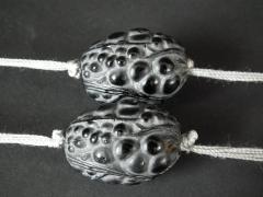 Ren Lalique Lalique Co Rene Lalique Black Glass Grosses Graines Necklace - 2005200