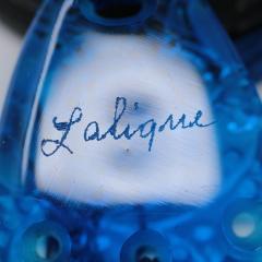 Ren Lalique Lalique Co Rene Lalique Electric Blue Coloured Glass Graines Pendant - 1989323