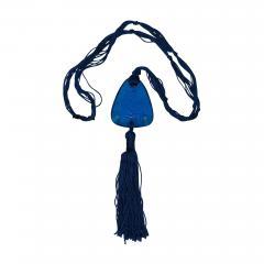 Ren Lalique Lalique Co Rene Lalique Electric Blue Coloured Glass Graines Pendant - 1995171