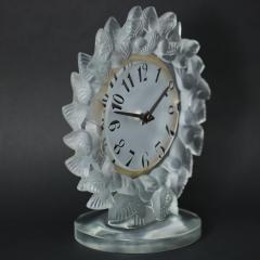 Ren Lalique Lalique Co Rene Lalique Frosted Glass Roitelets Clock - 1990368