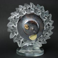 Ren Lalique Lalique Co Rene Lalique Frosted Glass Roitelets Clock - 1990369