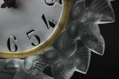 Ren Lalique Lalique Co Rene Lalique Frosted Glass Roitelets Clock - 1990373