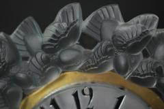 Ren Lalique Lalique Co Rene Lalique Frosted Glass Roitelets Clock - 1990374