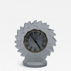 Ren Lalique Lalique Co Rene Lalique Frosted Glass Roitelets Clock - 1995174