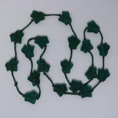 Ren Lalique Lalique Co Rene Lalique Green Glass Feuilles De Lierre Necklace - 2065809