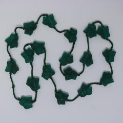 Ren Lalique Lalique Co Rene Lalique Green Glass Feuilles De Lierre Necklace - 2065813