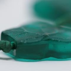 Ren Lalique Lalique Co Rene Lalique Green Glass Feuilles De Lierre Necklace - 2065844