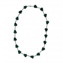 Ren Lalique Lalique Co Rene Lalique Green Glass Feuilles De Lierre Necklace - 2068859