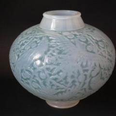 Ren Lalique Lalique Co Rene Lalique Opalescent Glass Aras Vase - 2006050