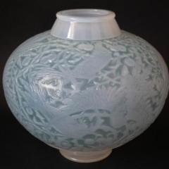 Ren Lalique Lalique Co Rene Lalique Opalescent Glass Aras Vase - 2006054