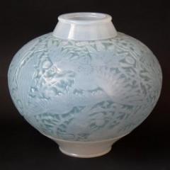 Ren Lalique Lalique Co Rene Lalique Opalescent Glass Aras Vase - 2006055