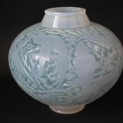 Ren Lalique Lalique Co Rene Lalique Opalescent Glass Aras Vase - 2006056