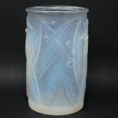 Ren Lalique Lalique Co Rene Lalique Opalescent Glass Laurier Vase - 2052958