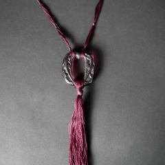 Ren Lalique Lalique Co Rene Lalique Plum Glass Lezards Pendant - 2004437