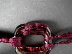 Ren Lalique Lalique Co Rene Lalique Plum Glass Lezards Pendant - 2004441